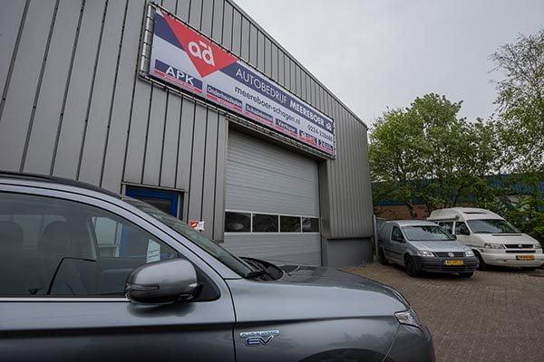 Pand  MEBO Autobedrijf in Schagen